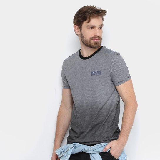 e64806757e3f4 Camiseta Calvin Klein Listras Degradê Masculina - Compre Agora   Zattini