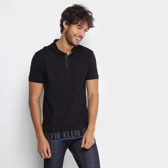 2dd4803e3f Camisa Polo Calvin Klein Piquet Barrado Masculina - Compre Agora ...