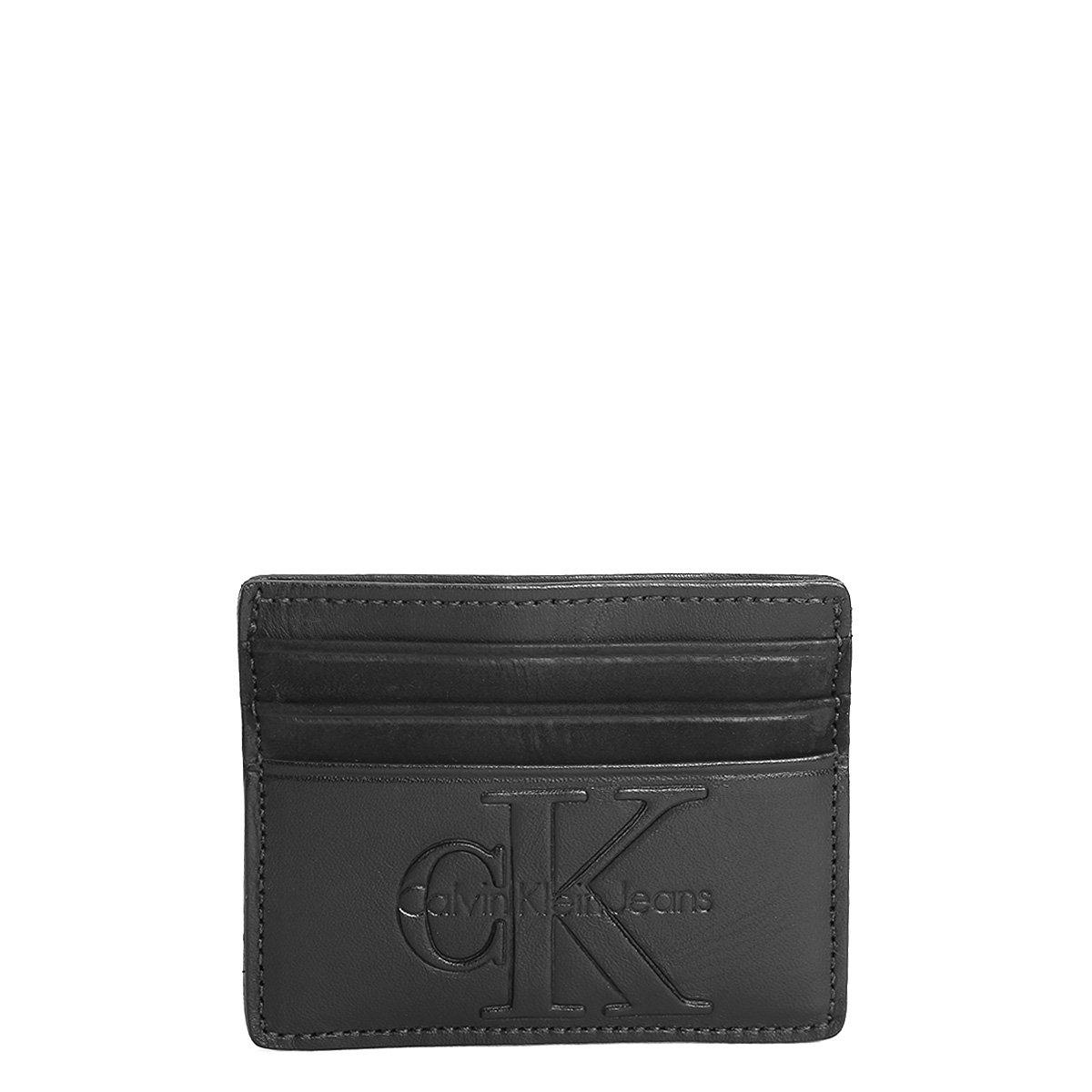 15e00557be3a2 Carteira Couro Calvin Klein Porta Cartão Masculina | Livelo -Sua ...