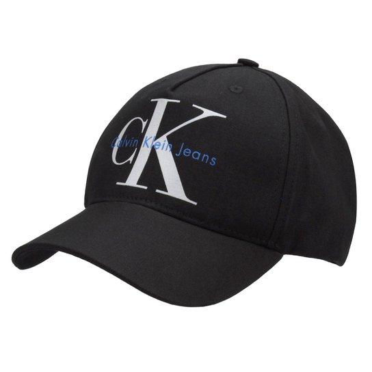 Boné Calvin Klein Aba Curva CK Masculino - Preto - Compre Agora ... 298bfd1020