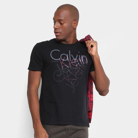 a8ea07c3db6fe Camiseta Calvin Klein Slim Estampada Masculina - Compre Agora