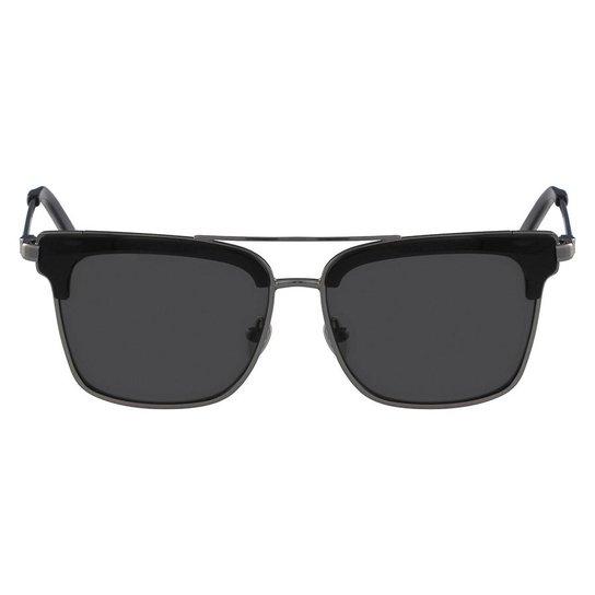 Óculos de Sol Calvin Klein CK8049S 718 56 - Preto - Compre Agora ... b19f044d3f