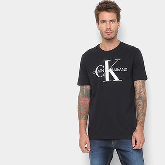 8a75e3dded24d Camiseta Calvin Klein Estampa Logo Masculina
