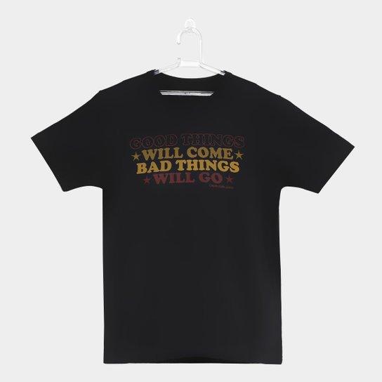 41393fb44 Camiseta Infantil Calvin Klein Good Things Masculina - Preto ...