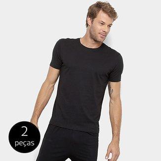 53d4b9698d Kit Camiseta Calvin Klein Algodão Pima Masculina 2 Peças