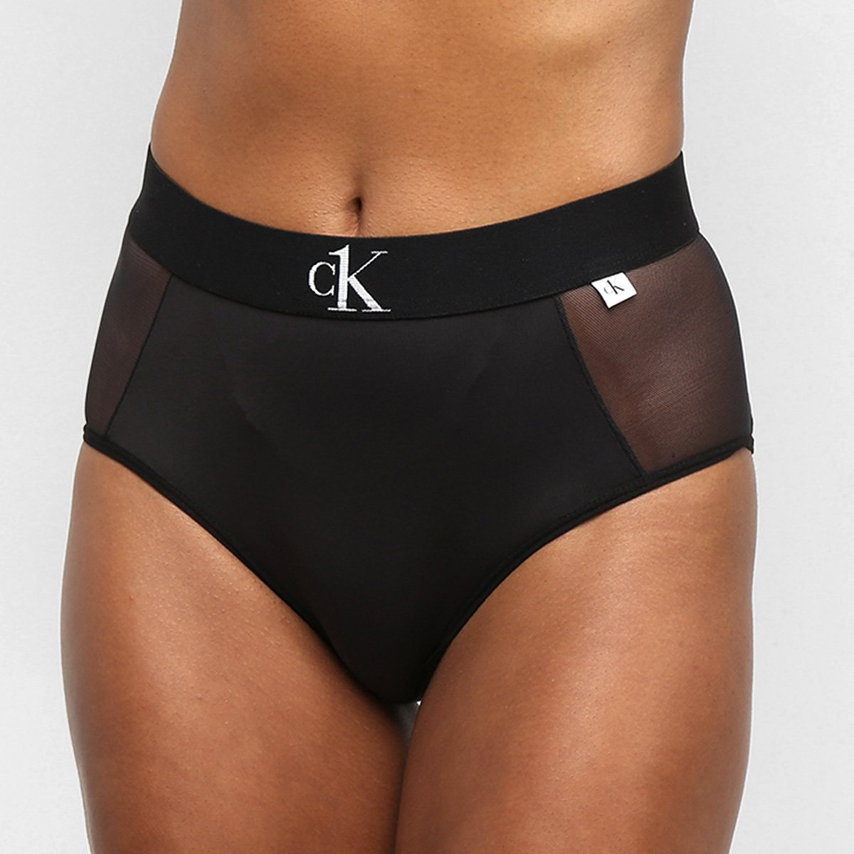Calcinha Calvin Klein Hot Pant Tule Microfibra