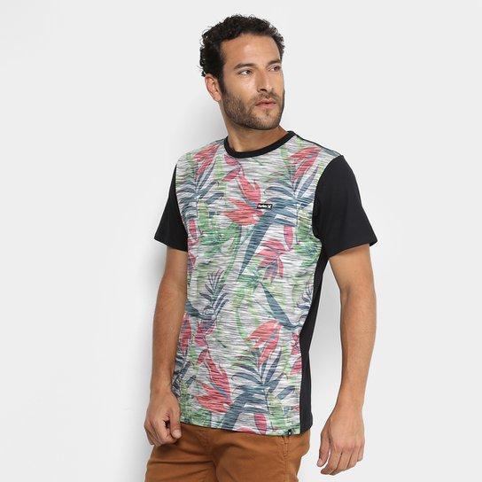 Camiseta Hurley Especial Tropic Masculina - Preto - Compre Agora ... 49e1b6b47aa9a