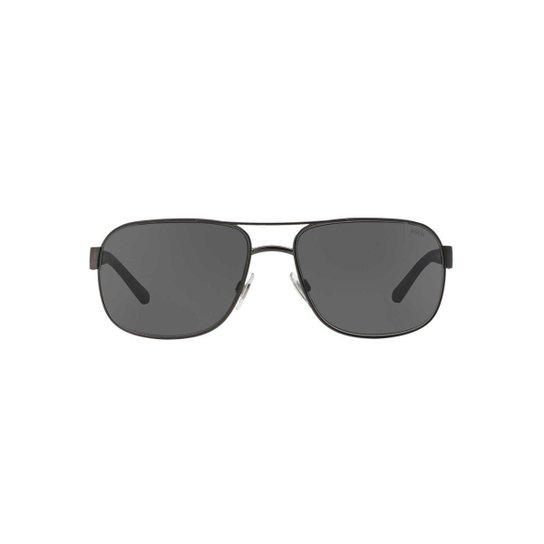 bcb5c5d6509 Óculos de Sol Polo Ralph Lauren Quadrado PH3093 Masculino - Preto ...