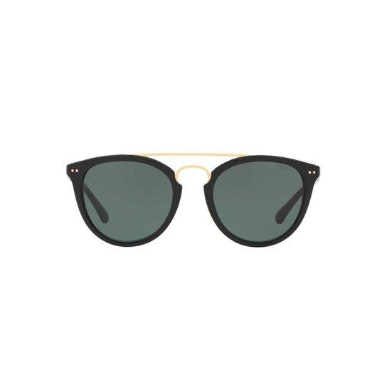 d92debebfe7d8 Óculos de Sol Polo Ralph Lauren Redondo PH4121 Masculino - Preto ...