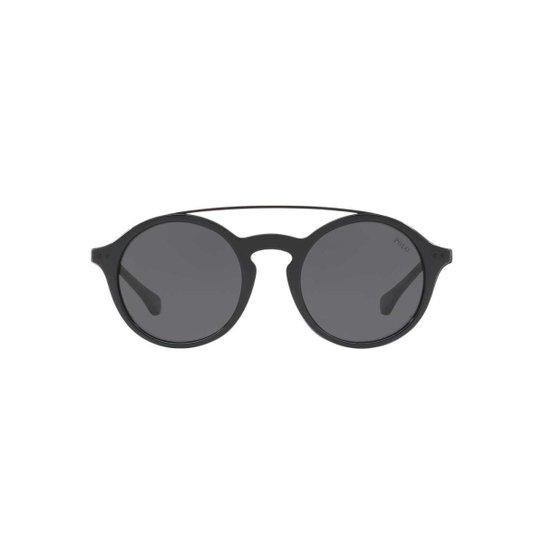 7c3fc833b Óculos de Sol Polo Ralph Lauren Redondo PH4122 Feminino - Preto ...