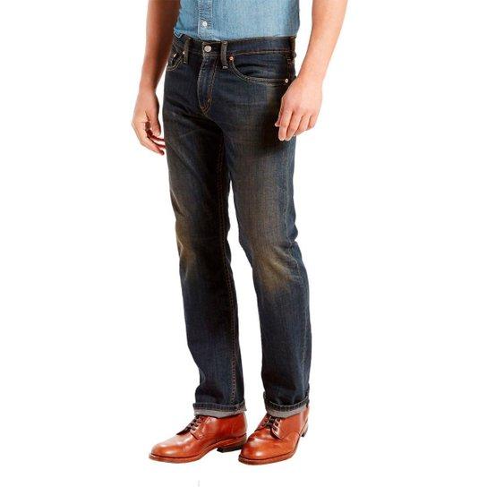 58b855dbb81b1 Calça Jeans Levis 505 Regular Escura Masculina - Preto - Compre ...