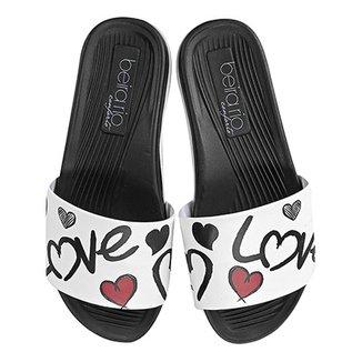 7571e63edc Chinelo Beira Rio Slide Love Feminino
