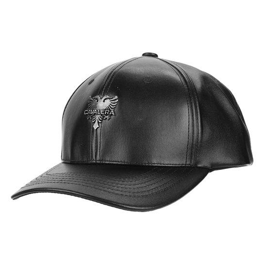 Boné Cavalera Aba Curva Bill Leather Logo Metal Masculino - Compre ... e4218ef6557