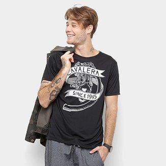 8799c04a90 Camiseta Cavalera Manga Curta Estampada Masculino