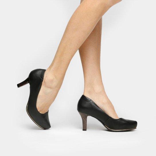 c5e0025d6 Scarpin Comfortflex Meia Pata Filete Feminino - Compre Agora   Zattini