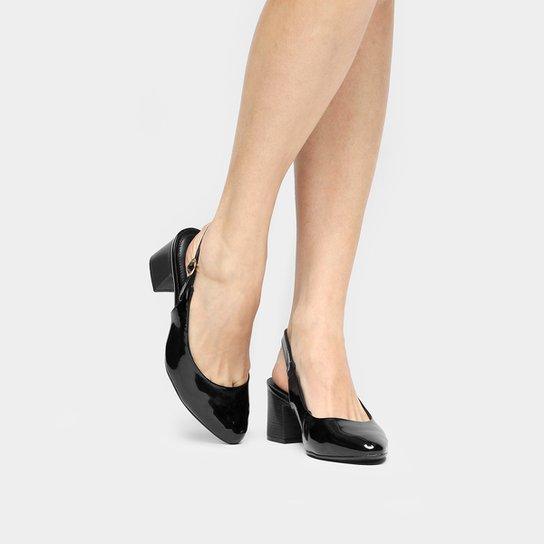 2da5e08f4 Scarpin Comfortflex Chanel Salto Grosso - Compre Agora   Zattini