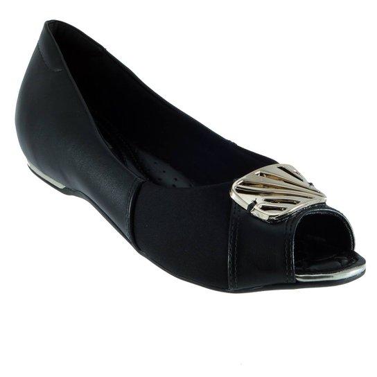 794c9f4e1 Sapatilha Peep Toe Comfortflex Fivela Joanete - Compre Agora | Zattini