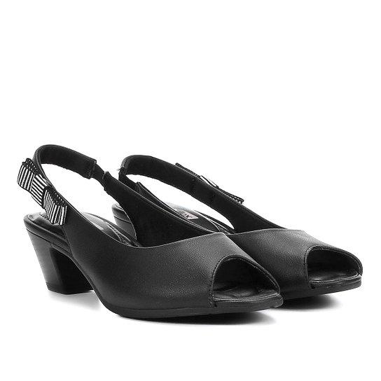 c95aa90ef Peep Toe Comfortflex Salto Baixo Chanela Laço - Compre Agora | Zattini