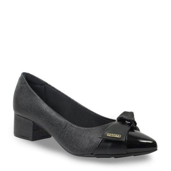 35c1bb34d Sapato Social Modare Salto Grosso Feminino - Preto - Compre Agora ...