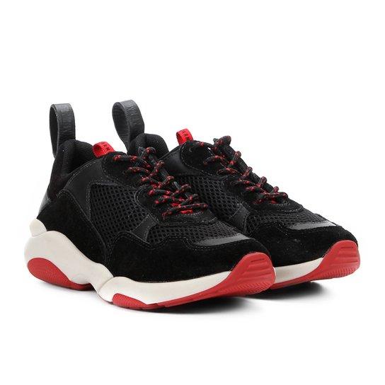 984f50ec7b Tênis Chunky Carmim Dad Shoes Maya Feminino - Preto - Compre Agora ...