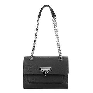 3adde2e642 Bolsa Couro Carmim Handbag Alça Corrente Transversal Simone Feminina