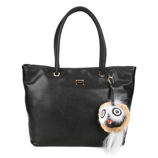 d187e8b41 Bolsa Couro Luz da Lua Shopper Detalhe Chaveiro Feminina   Zattini