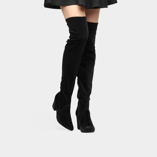 4ff322f4b Bota Over The Knee Via Marte Amarração Feminina - Compre Agora