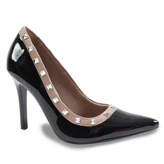 73284113b Sapato Scarpin Feminino Salto Alto Via Marte
