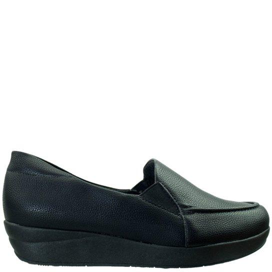 103f164701 Sapato Conforto Piccadilly Esporão de Calcâneo Feminino - Preto ...