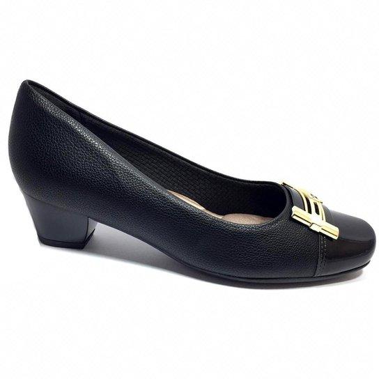 e27ece3402 Sapato Piccadilly Confort Bico Quadrado - Preto - Compre Agora