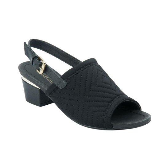 0512ebe2b Sandália Usaflex Peep Toe Com Alça Preto - Compre Agora | Zattini