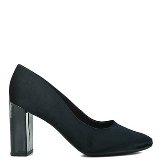 2cc985499c Sapato Comfort Tecido Veludo Velvet Preto
