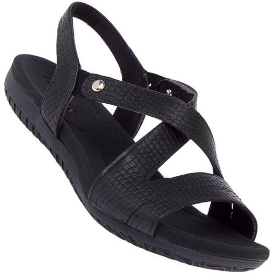 5ea81f63f Sandália Usaflex Malibu New Croc Feminina - Preto - Compre Agora ...