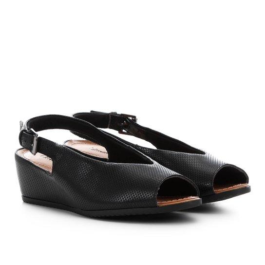 ffb1a1e7b2 Sandália Usaflex Chanel Anabela - Preto - Compre Agora