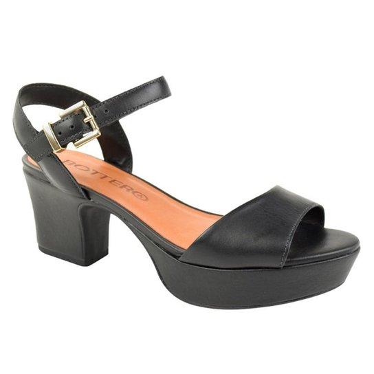 Sandália Bottero Plataforma Feminino - Preto - Compre Agora  925fc0a431e