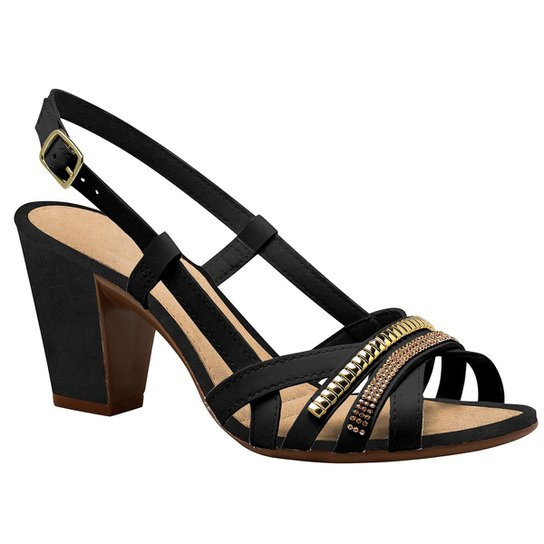 97eb8166c Sandália Dakota Salto Grosso Strass - Compre Agora   Zattini