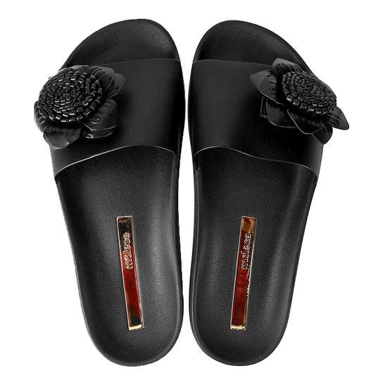 a2b49fe64f Chinelo Moleca Slide Flor Feminina - Compre Agora