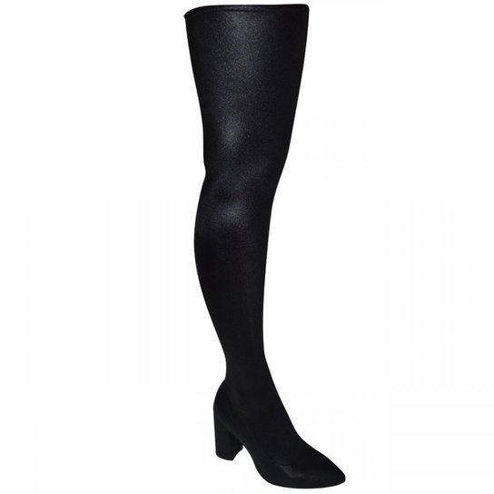 Bota Over The Knee Crysalis Feminino - Preto - Compre Agora  45708de3802dd