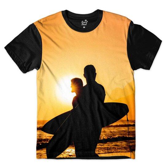 Camiseta Long Beach LB Sol Sublimada Masculina - Laranja e Preto ... e93f4d78461