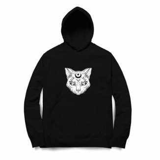 981c3df5a Moletom Long Beach Moon Cat Masculino