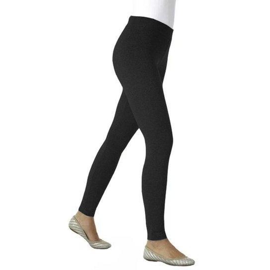 7c44456b6751a2 Calça Legging Loba Lupo Algodão Sem Costura Roupa Feminina - Preto