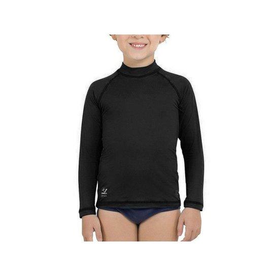 Camiseta Infantil Lupo com Proteção Solar Infantil UV 50+ Masculina - Preto 32cbf283091