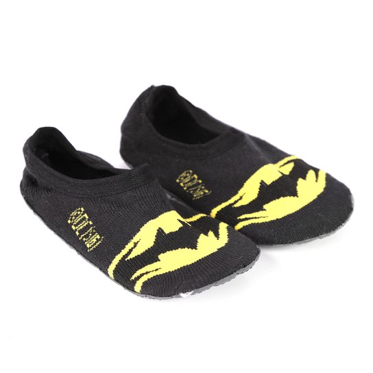 1e1a01e461dc57 Meia Sapatilha Fortex Cano Curto Antiderrapante Batman Masculina - Preto