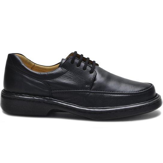 74fd2c767 Sapato Conforto Cadarço Masculino - Preto | Zattini
