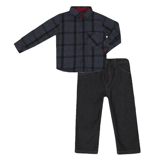 Conjunto Masculino Bebê Camisa e Calça Jeans - Preto - Compre Agora ... 71087c15aa4