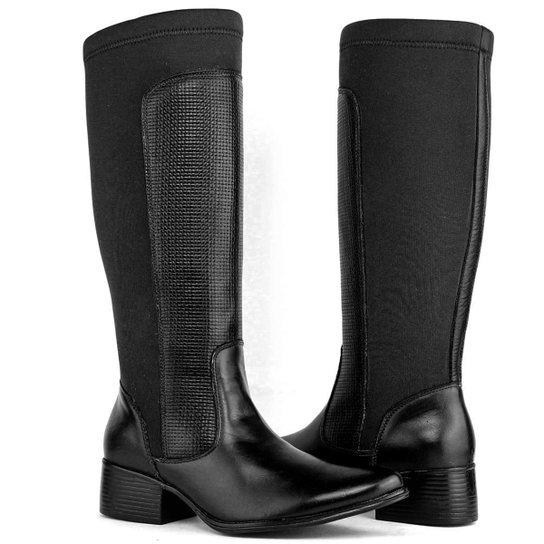 6282fef91 Bota Montaria Art Shoes Cano Alto Feminina - Preto - Compre Agora ...