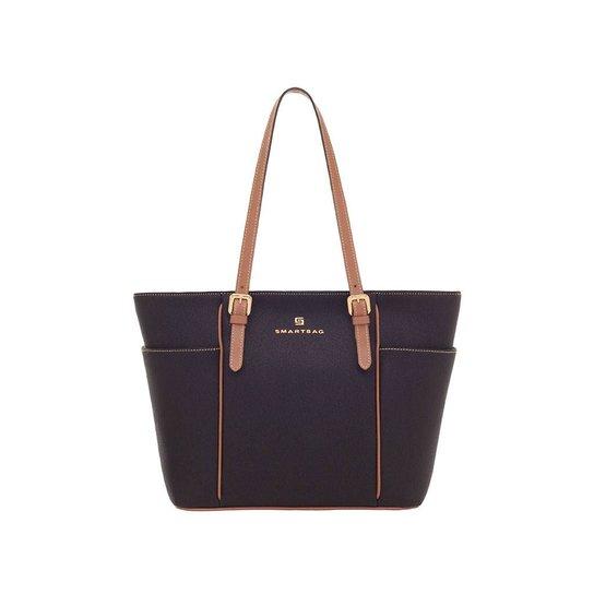 05a7c2828a8 Bolsa Smartbag Verona Couro Camel - Preto - Compre Agora