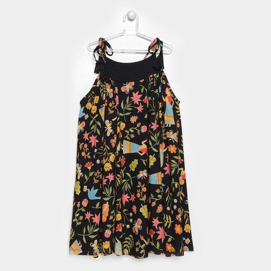 Vestido Infantil Fábula Evita Feminino - Compre Agora  7a210c9c985