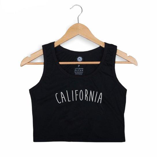 a4d878ca1 Blusa Cropped Regata Morena Deluxe California Feminina - Preto | Zattini