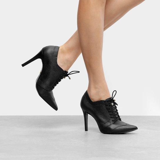 65bcb3363b3 Ankle Boot Couro Jorge Bischoff Salto Fino Bico Fino Snake - Compre ...